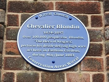 Blue plaque in Eastham