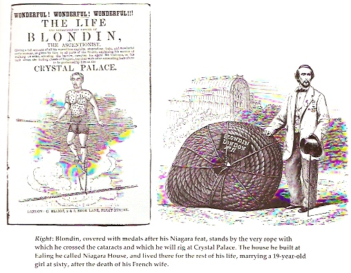 Blondin and the rope he used at Niagara Falls