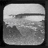 Magic lantern view of Blondin crossing Niagara Falls